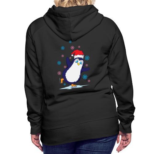 Weihnachten Pinguin Schlittschuh laufen - Frauen Premium Hoodie