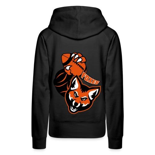 Foxes Rugby - Sweat-shirt à capuche Premium pour femmes