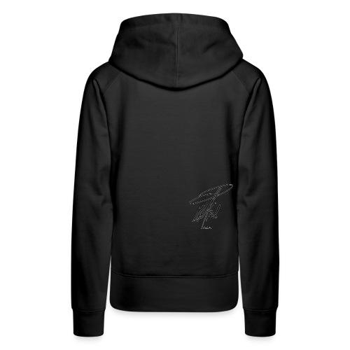 ccTLD Line - Black Signature / White outline - Frauen Premium Hoodie