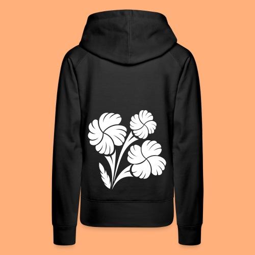 trio fleuri - Sweat-shirt à capuche Premium pour femmes