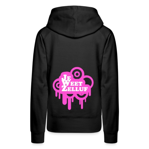 Je weet zelluf roze - Vrouwen Premium hoodie