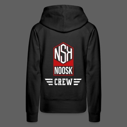 NOOSK CREW [ROUGE] - Sweat-shirt à capuche Premium pour femmes