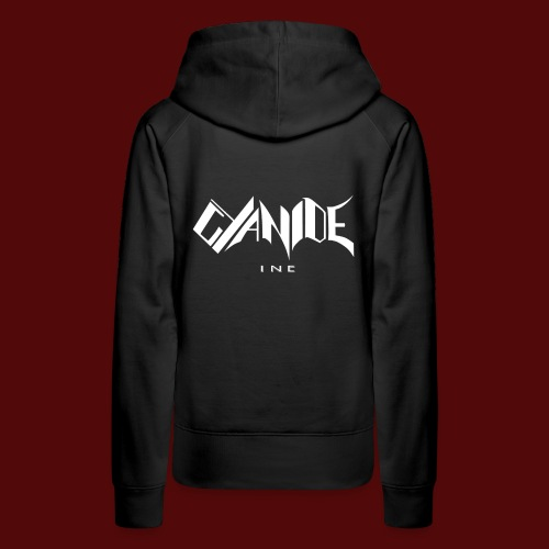 Logo Cyanide Inc - Sweat-shirt à capuche Premium pour femmes