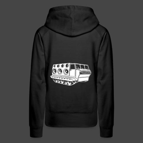 véhicule sonore spirale tekno 23 - Sweat-shirt à capuche Premium pour femmes