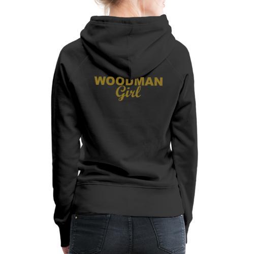 WOODMAN Girl, gold - Frauen Premium Hoodie