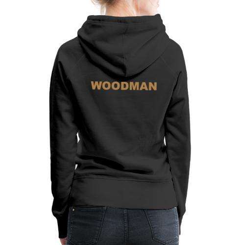 WOODMAN gold - Frauen Premium Hoodie