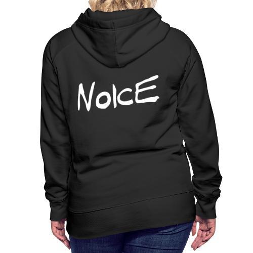 Noice - White logo - Women's Premium Hoodie