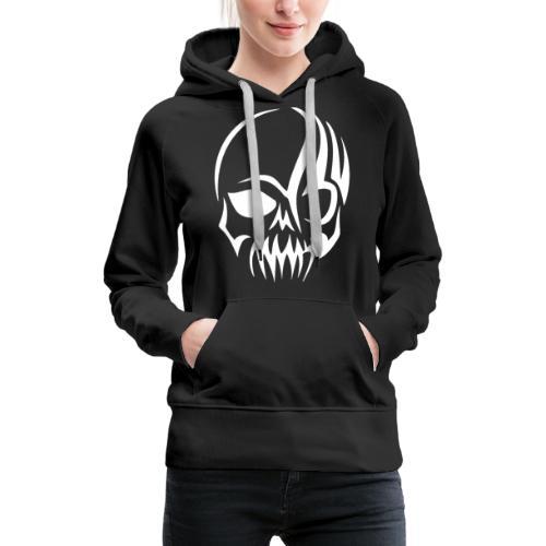 Tribal Skull white mit Logo - Frauen Premium Hoodie