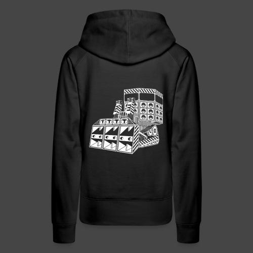 bulldozer 23 - Sweat-shirt à capuche Premium pour femmes