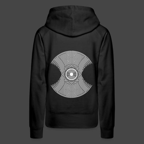 spirale Maya - Sweat-shirt à capuche Premium pour femmes