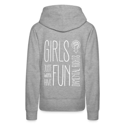 Girls just wanna have fundamental rights - Frauen Premium Hoodie