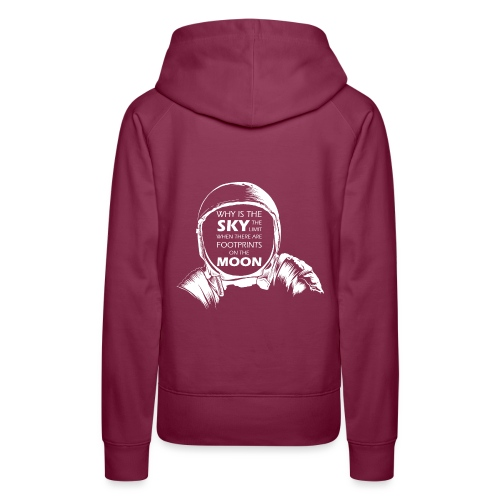 Astronaut - Footprints on the Moon - Frauen Premium Hoodie