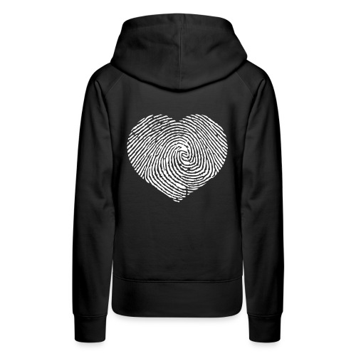 Finger Heart White - Vrouwen Premium hoodie