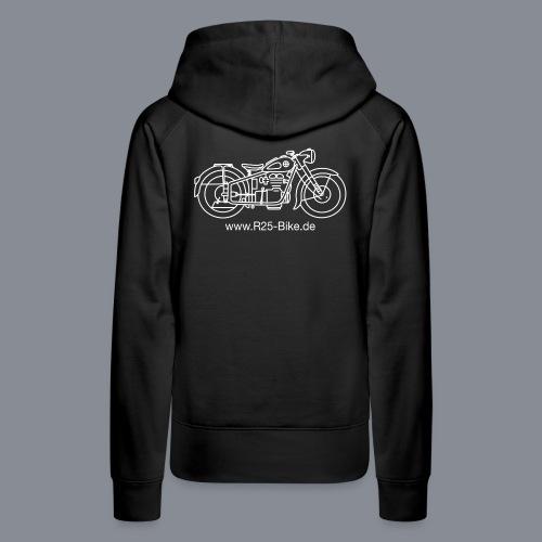 Motorrad_CS2_weiss + URL - Frauen Premium Hoodie