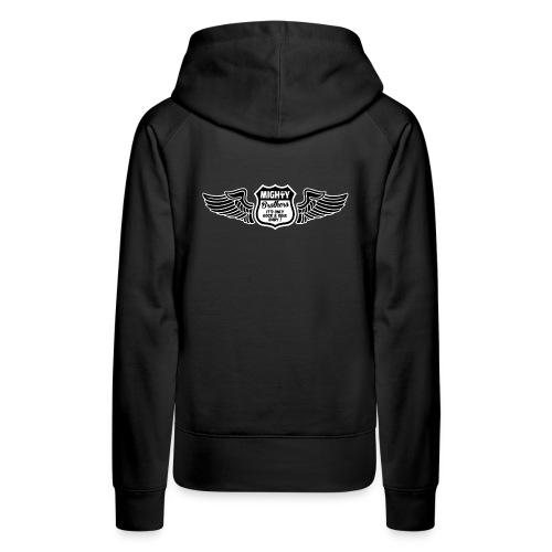 mighty_brothers_white_win - Sweat-shirt à capuche Premium pour femmes