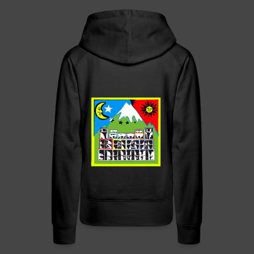 TEKNO SQUAT RESEAU couleur TRIP par TEKNO 23 - Sweat-shirt à capuche Premium pour femmes