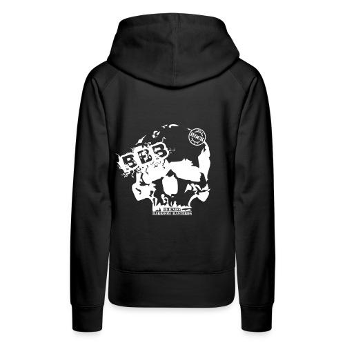 BBB schlichtes Logo schwarz ohne background png - Frauen Premium Hoodie