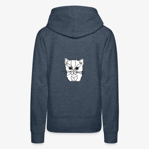 designchatblanc - Sweat-shirt à capuche Premium pour femmes