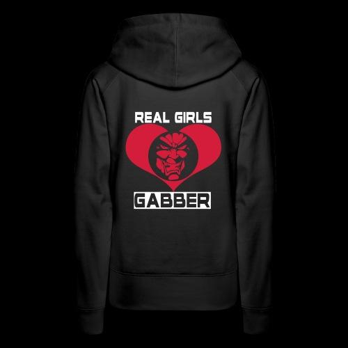 Real Girls Love Gabber Hoodies & Sweatshirts - Women's Premium Hoodie