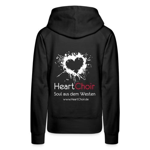 heartchoir logo mit schriftzug und webse - Frauen Premium Hoodie