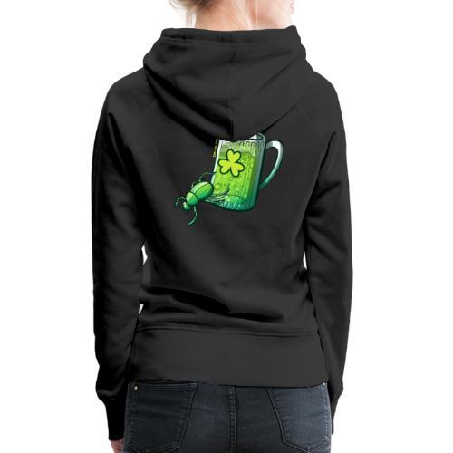 Saint Patrick's Day Beetle - Women's Premium Hoodie