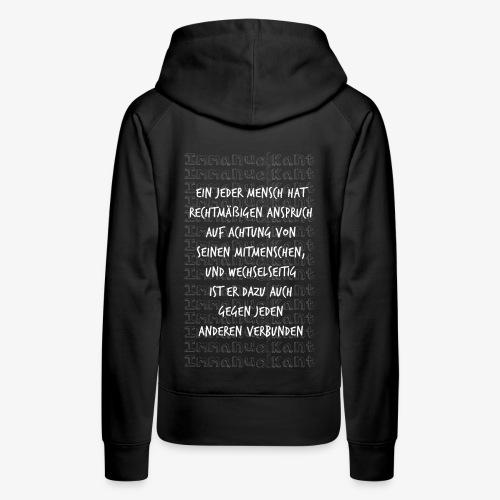 Achtung Immanuel Kant Zitat Spruch Geschenk Idee - Frauen Premium Hoodie