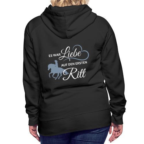 Liebe_auf_den_ersten_Ritt - Frauen Premium Hoodie