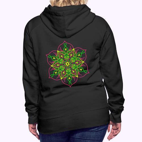 Flor de loto de fuego - Sudadera con capucha premium para mujer