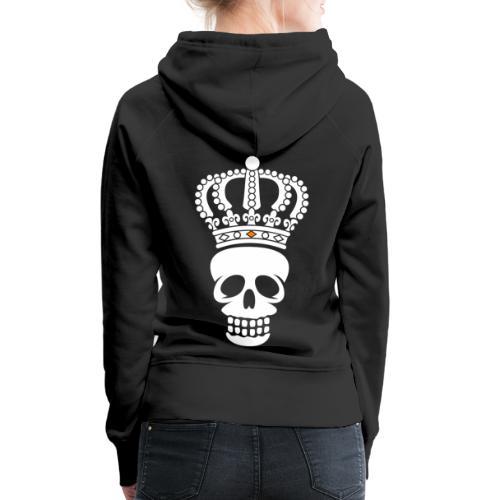 'Custom Dutch' Crowned Skull - Vrouwen Premium hoodie