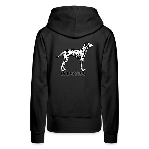 dalm silhouette2 - Sweat-shirt à capuche Premium pour femmes