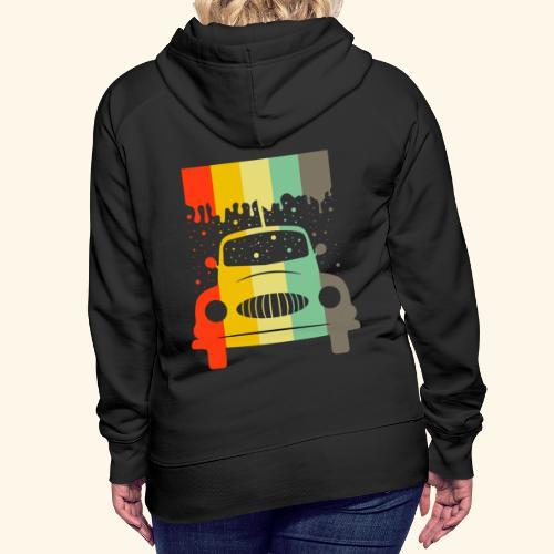 Retro Car Vintage Tee Men Women Gift Idea - Frauen Premium Hoodie