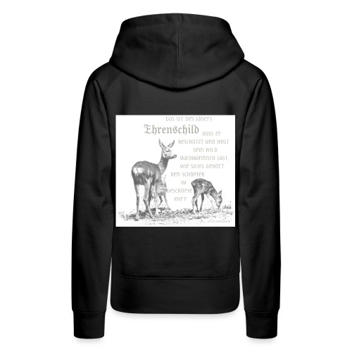 EHRENSCHILDSAFE1Sh - Frauen Premium Hoodie