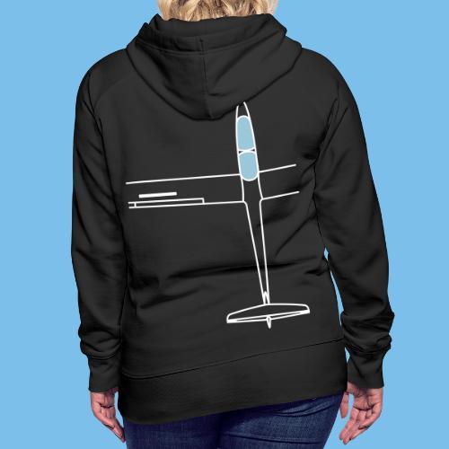 Segelflugzeug von oben Segelflieger gleiten - Frauen Premium Hoodie