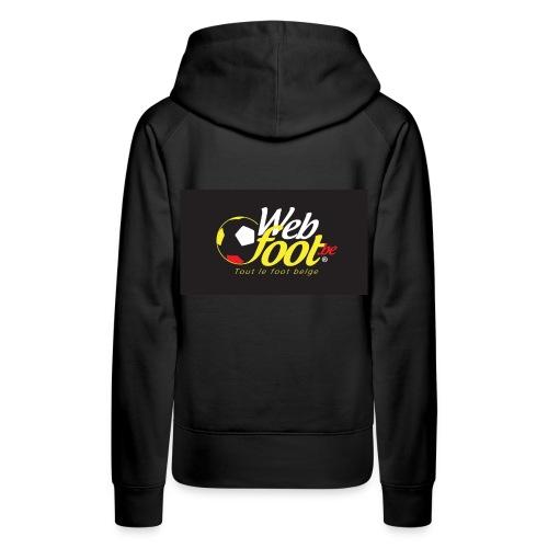 webfoot.be - Sweat-shirt à capuche Premium pour femmes
