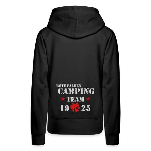 Camping Team 1 front png - Frauen Premium Hoodie