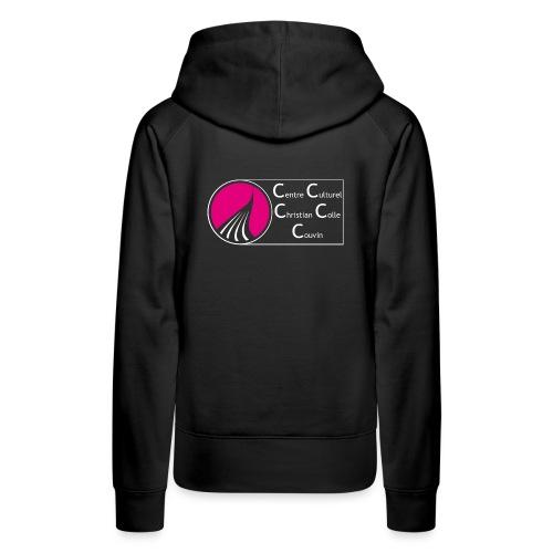 ROND CARRE HORIZONTAL SANS NOIR - Sweat-shirt à capuche Premium pour femmes
