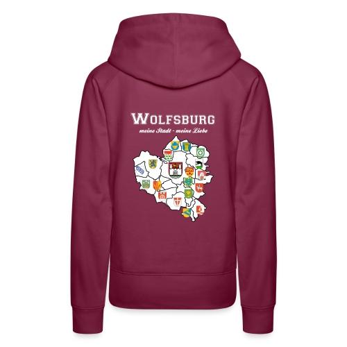 Wolfsburgs Stadtteile - Frauen Premium Hoodie