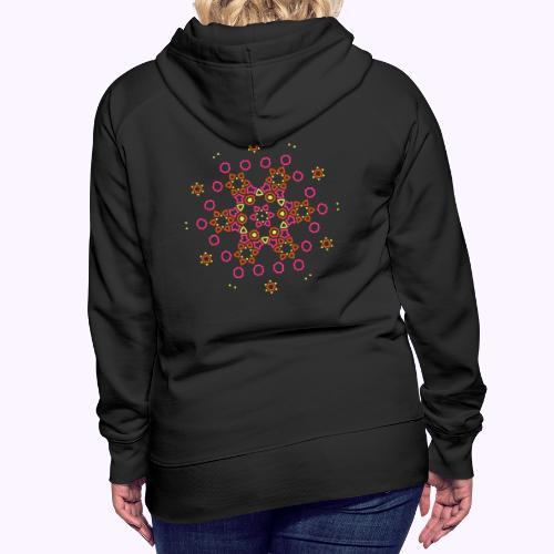 Mandala Nube - Sudadera con capucha premium para mujer