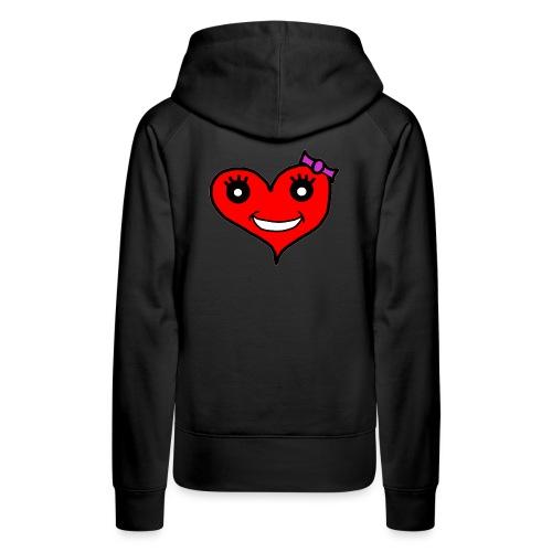 Herz Smiley Schlaufe - Frauen Premium Hoodie