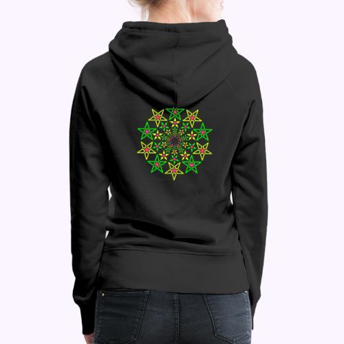 Fractal Star 3 couleurs néon - Sweat-shirt à capuche Premium pour femmes