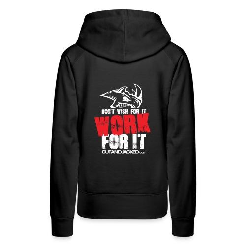 Work for it (wht) - Women's Premium Hoodie