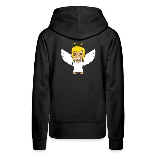 Angelgirl, negativ (ohne Text) - Frauen Premium Hoodie
