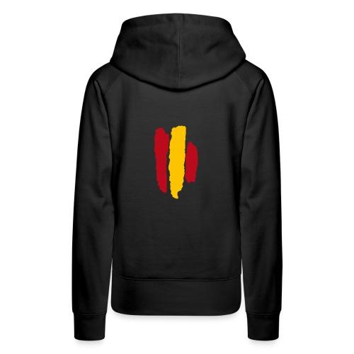 Bandera España - Sudadera con capucha premium para mujer