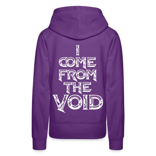 I Come From The Void White - Women's Premium Hoodie