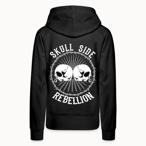 Skull side rebellion - Frauen Premium Hoodie