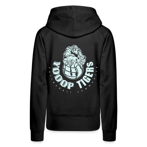 Logo des Yooop Tigers Bruxelles - Sweat-shirt à capuche Premium pour femmes