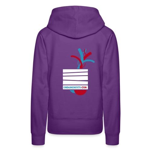 Embaumements.com - Sweat-shirt à capuche Premium pour femmes
