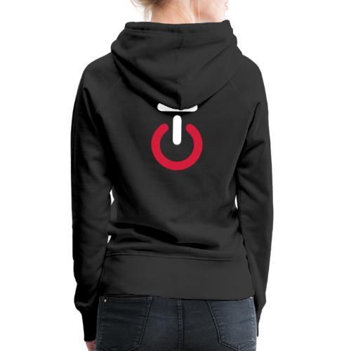 Logo lille v5 - Dame Premium hættetrøje