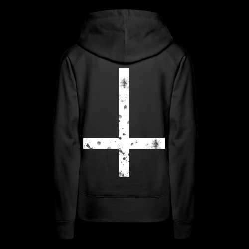 inverted cross white png - Women's Premium Hoodie