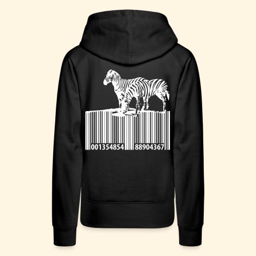 zebra barcode - Frauen Premium Hoodie
